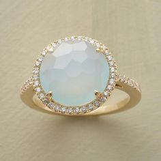 SPARKLING CHALCEDONY RING