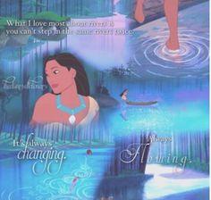Disney Challenge Day 25 Favorite Lyrics: Pocahontas Just around the river bend! ♥