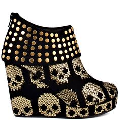 Iron Fist   Gold Star Wedge - Black and Gold