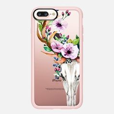 Deer Head Skull and Floral - Classic Grip Case