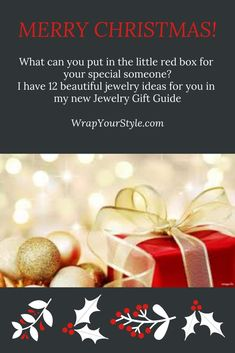 What can you put in the little red box for your special someone? I have twelve beautiful jewelry ideas for you in my new Jewelry Gift Guide. #wrapyourstyle #jewelrygiftguide #romanticjewelry #personaizedchristmasgifts #jewelryloversgiftideas