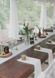 I like the idea of the jam jars holding the napkins--especially since there is jam made where we are having the wedding.