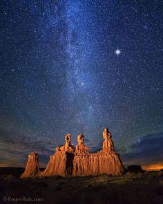"""NightScaper - Royce Bair (@roycebairphoto) on Instagram: """". - Wise Men Still Seek Him - I took this photo of the """"Three Sisters"""" hoodoos in Goblin Valley…"""""""