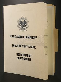 """""""Will that be all, Mr, Stark?"""" Today's #USFeaturedItem is Agent Romanoff's (Scarlett Johansson) Recruitment Assessment from 2010's Iron Man 2! Check out this item and other new additions here: ow.ly/iiEN306OtZt #PropStore #Ironman #Ironman2 #ScarJo #ScarlettJohansson"""