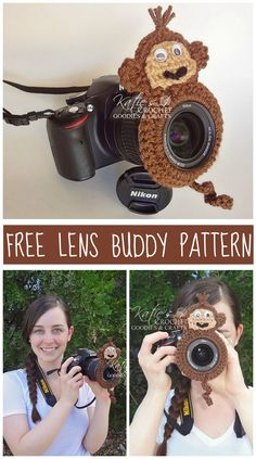 Free Monkey Lens Buddy Pattern by Katie's Crochet Goodies :)