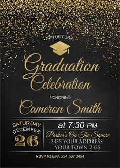 mandellacroix - 0 results for graduation poster ideas Graduation Party Planning, Graduation Celebration, Graduation Decorations, Graduation Party Invitations, Gold Invitations, Graduation Theme, Anniversary Invitations, College Graduation, Graduation Wallpaper