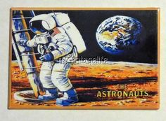 "Vintage THE ASTRONAUTS Lunchbox 2"" x 3"" Fridge MAGNET ART side A"