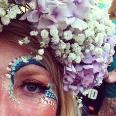 coachella Face paint and Flowers