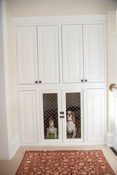 Here we have fabulous DIY dog crate ideas. So these are the ways to mixture a dog crate into your living room decoration and keep your energetic puppy off Dog Kennel Cover, Diy Dog Kennel, Dog Kennels, Outdoor Dog Kennel, Kennel Ideas, Diy Dog Crate, Large Dog Crate, Dog Closet, Hall Closet