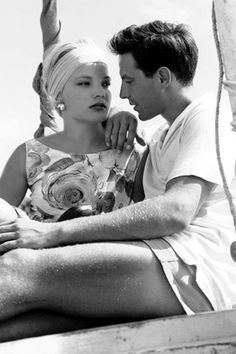 Gena Rowlands & John Cassavetes, 1954 -via killerbeesting