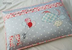 I keep finding the most beautiful handiwork by Amy.  The lucky owner of this pillow is sure to have sweet dreams!