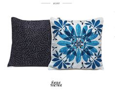 °★ ☽ FORGET ME NOT ☾ ★ °  - interior Pattern - made in France - Cobalt Garden  available on www.forget-me-not.paris