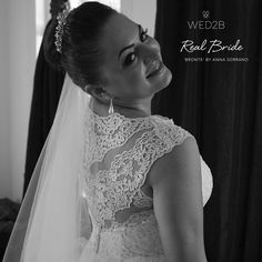Beautiful real bride Anuktz looks exquisite in 'Bronte' by Anna Sorrano <3 Please share your photos with us by emailing info@wed2b.co.uk <3