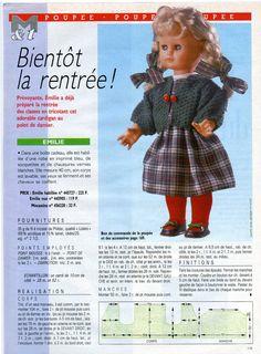 Modes et Travaux - Patron original et page originale pour Emilie- Août 1988 in Loisirs créatifs, Crochet, tricot, Patrons, modèles | eBay