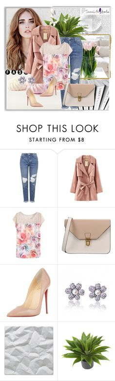 """""""Beautifulhalo  9"""" by irmica-22 ❤ liked on Polyvore featuring Topshop, 8, Christian Louboutin, OFFECCT, Nearly Natural, women's clothing, women's fashion, women, female and woman"""