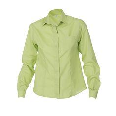 ad93cda627 2481 Camisa chica manga larga color pistacho  uniformes  hostelería   camarero  Garys