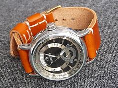 leon / Hnedý kožený remienok 20mm, pravá koža