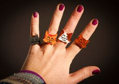 Cat wooden ring  handmade  a ring with the face by SilviaWithLove, €10.00