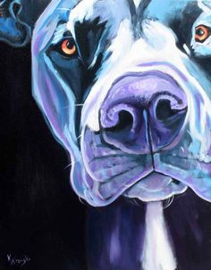 blue dog paintings - my Black Pearl Dogs would be good subjects...