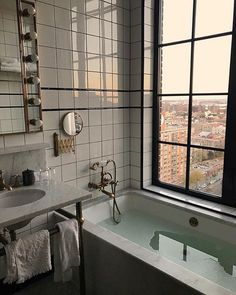 hotel aesthetic The Ludlow Hotel NYC Inst mvb Ludlow Hotel, Nyc Hotels, Interior Minimalista, Dream Apartment, Studio Apartment, Apartment Goals, Aesthetic Rooms, Bathroom Inspiration, Bathroom Inspo