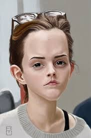 Image result for emma watson caricature