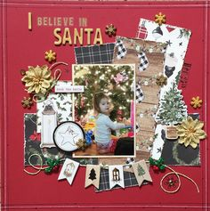 Scrapbook Page Layouts, Scrapbooking Ideas, Scrapbook Pages, Scrapbook Storage, Baby Boy Scrapbook, Med Student, Christmas Scrapbook, Layout Inspiration, Winter Christmas
