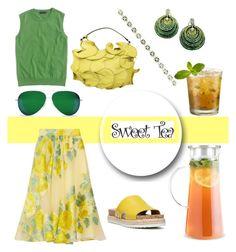 """Sweet Tea"" by christined1960 ❤ liked on Polyvore featuring Tealish, Valentino, Lela Rose, La Fleur Jewels, Franco Sarto, J.Crew, Victoria Beckham and Effy Jewelry"