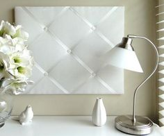 Coming to my home office very soon! I love the pure white simplicity of this ribbon notice board from French Knot.
