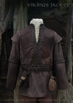 Viking Leather Jacket (inspired Ragnar Lothbrok) / L size / LARP equipment / style fantasy by SvetliySudarWorkshop on Etsy https://www.etsy.com/no-en/listing/386692470/viking-leather-jacket-inspired-ragnar