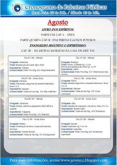 Calendário de palestras do GEUNECC – Agosto/2015 – Duque de Caxias – RJ - http://www.agendaespiritabrasil.com.br/2015/08/12/calendario-de-palestras-do-geunecc-agosto2015-duque-de-caxias-rj/