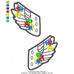 AUTISM WINGS Lace Up 4X4, 5X7