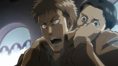Attack On Titan ~~ Perhaps the last time Marco was still there to help Jean cope. How sad...