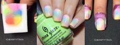 Nail Art Tutorial: Pastel Gradient Glitter Nails