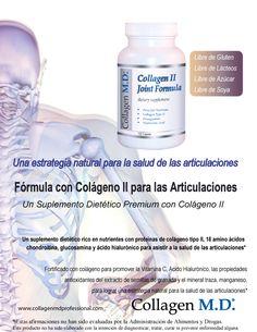 Sin gluten Colágeno tipo 2 - Fórmula con Colágeno II para las Articulaciones Suplemento Dietético Profesional #SuplementoDietéticoProfesional #SinGluten #Colágenotipo2