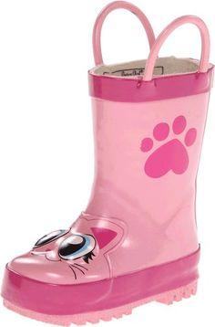 Western Chief Pink Kitty Rain Boot