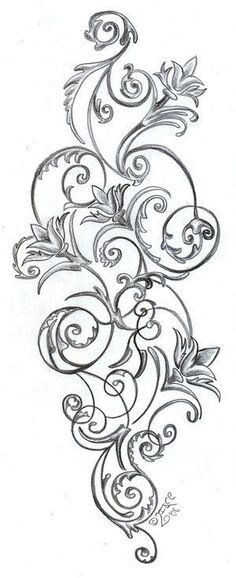 Floral Pattern Tattoos Stock Vector Artistic Tattoo Picture! I think I finally found the tattoo I%u2019ve been wanting for my shoulder and upper arm! Love it!