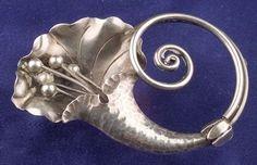 Sterling Silver Lily Brooch, Georg Jensen