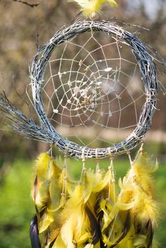 Large dream catcher Rustic Dream Catcher by MysteriousForests