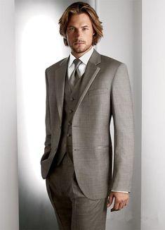 2017 Custom Made Tuxedos Men Suits with pants Slim Fit Wedding Suits Groomsmen Groom Suits (Jacket+Pants+Vest+Tie)