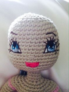 Angelica Crochet Doll PDF Pattern including eyes & mouth