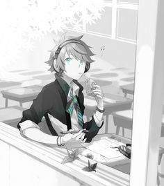 That's how I am in class, but a boy version in the picture.