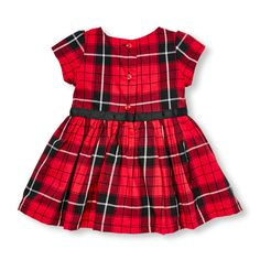 Baby Girls Short Sleeve Plaid Dress, Headwrap And Bloomers Set | The Children's Place CA