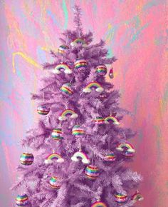 Tis the Season. and We are obsessing over Christmas Tree . - Happy Christmas - Noel 2020 ideas-Happy New Year-Christmas Purple Christmas Tree, Christmas Trees For Kids, Alternative Christmas Tree, Christmas Tree Themes, Holiday Tree, Christmas Holidays, Christmas Crafts, Merry Christmas, Christmas Morning