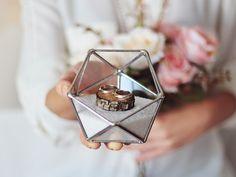 Great gift for mum. Jewellery Boxes – Silver Glass Ring Bearer Box – a unique product by Waen via en.DaWanda.com