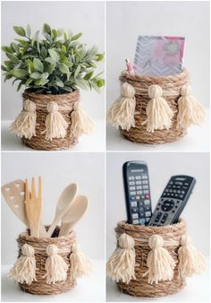 Have Lu make for Christmas gifts? I Heart Organizing: A Darling DIY Rope Basket Have Lu make for Christmas gifts? I Heart Organizing: A Darling DIY Rope Basket Have Lu make for Christmas gifts? I Heart Organizing: A Darling DIY Rope Basket Rope Crafts, Diy Home Crafts, Crafts For Kids, Home Craft Ideas, Craft Ideas For Adults, Twine Crafts, Adult Crafts, Wooden Crafts, I Heart Organizing