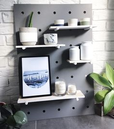 Another paint job for the Taubmans 'Grey Moggy' ! The Kmart Pegboard ! Funky Home Decor, Home Decor Hacks, Kmart Home, Kmart Decor, Up House, Reno, Ikea Hack, Home Decor Inspiration, Decor Ideas