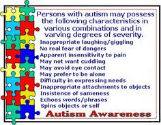Autism is so much a part of our everyday life, that sometimes we forget how typical (we don't use the word normal) people do things. Our life is not worse than theirs nor better, just different.