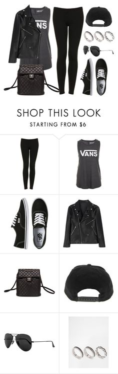 """Sin título #12292"" by vany-alvarado ❤ liked on Polyvore featuring Topshop, Vans, Chanel, Ray-Ban and ASOS"