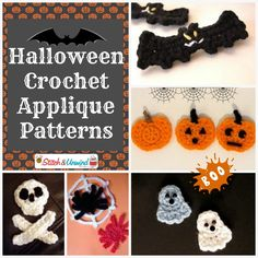 Halloween Crochet Appliques 1024x1024 Add Flair To Your Afghans: Free Crochet Applique Patterns