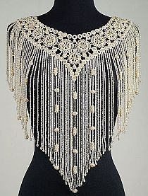 Collar from the Metropolitan Museum of Art--- French from tatting and beads! The Nuns where I worked in the did tatting. Col Crochet, Crochet Collar, Irish Crochet, Crochet Shawl, Crochet Ruffle Scarf, Collar Macrame, Beaded Collar, Crochet Blouse, Easy Crochet